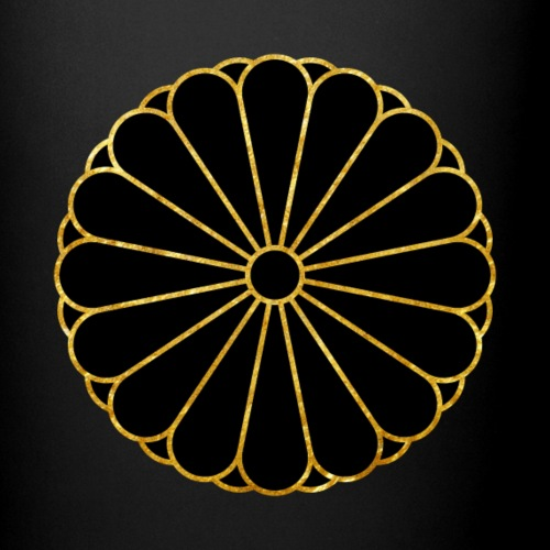 Kiku Chrysanthemum Mon faux gold