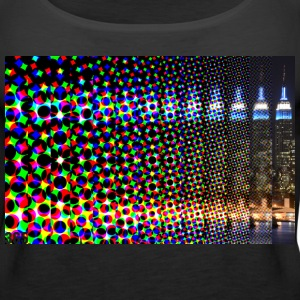 Pixelated Fade Empire State Building 365 Tanks - Women's Premium Tank Top