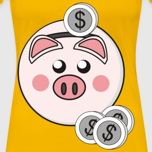 Piggy Bank - Women's Premium T-Shirt