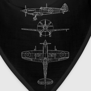 Spitfire airplane blueprint Caps - Bandana