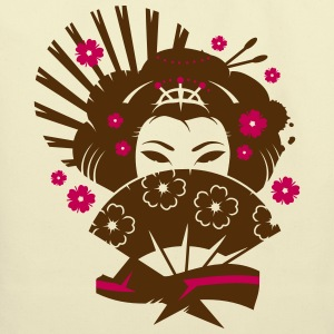 A geisha with a fan  Bags & backpacks - Eco-Friendly Cotton Tote
