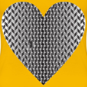 Colorful Heart Lattice Weave 10 - Women's Premium T-Shirt