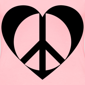 Peace Heart Mark II Black - Women's Premium T-Shirt