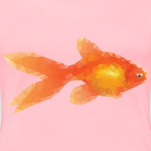 Low Poly Goldfish - Women's Premium T-Shirt