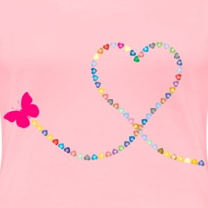 Butterfly Hearts Trail 2 - Women's Premium T-Shirt