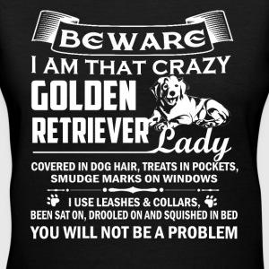 Crazy Golden Retriever Lady - Women's V-Neck T-Shirt