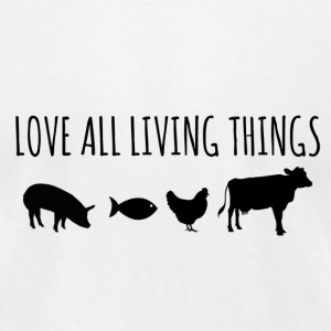 Love All Living Things White T Shirt - Men's T-Shirt by American Apparel