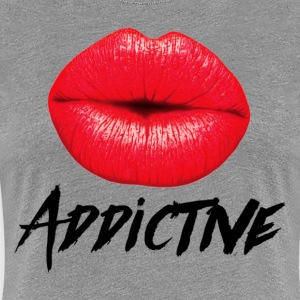 Red Lips Lipstick Addictive  T-Shirts - Women's Premium T-Shirt