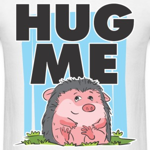 HUG ME CUTE HEDGEHOG MEN T-SHIRT - Men's T-Shirt