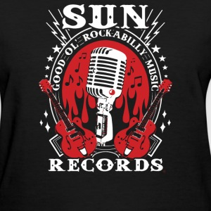 Sun Records Steady Mens Black Rockabilly Music - Women's T-Shirt