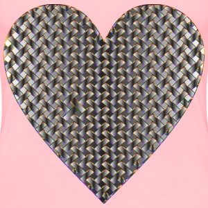 Colorful Heart Lattice Weave 11 - Women's Premium T-Shirt