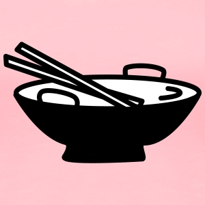 Bowl with Chopsticks - Women's Premium T-Shirt