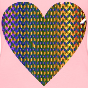 Colorful Heart Lattice Weave 6 - Women's Premium T-Shirt