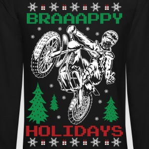 Motorcross Christmas Long Sleeve Shirts - Crewneck Sweatshirt