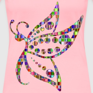 Chromatic Mosaic Spotted Butterfly - Women's Premium T-Shirt