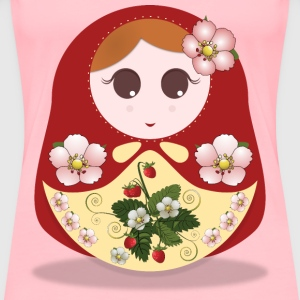 russian doll strawberry - Women's Premium T-Shirt
