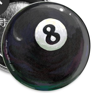 Painted 8 Ball Button - Small Buttons