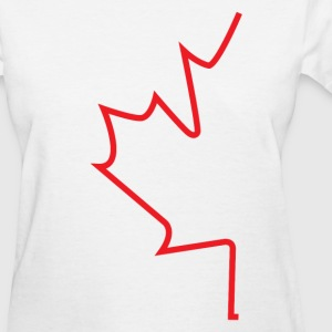 Half Maple Leaf - Women's T-Shirt