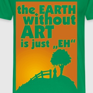 earth without art..._violet - Men's Premium T-Shirt