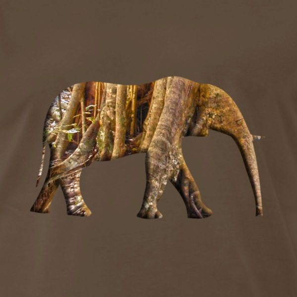 Rainforest Elephant - Men's Premium T-Shirt