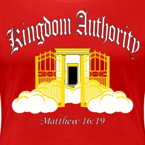 Kingdom Authority (Women's Premium T)B/W Graphic - Women's Premium T-Shirt