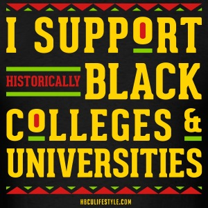 I Support HBCUs - Men's Red, Black, Green, and Gol - Men's T-Shirt