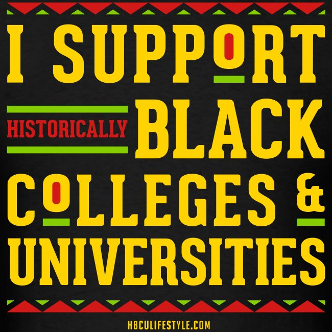 I Support HBCUs - Men's Red, Black, Green, and Gold T-shirt