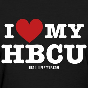 I Love My HBCU - Women's Black, Red and White T-Sh - Women's T-Shirt