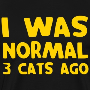 I was normal 3 cats ago T-Shirts - Men's Premium T-Shirt