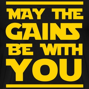 May the gains be with you T-Shirts - Men's Premium T-Shirt