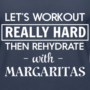 Let's workout and rehydrate with margaritas Tanks - Women's Premium Tank Top