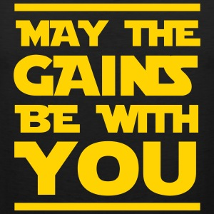 May the gains be with you Sportswear - Men's Premium Tank