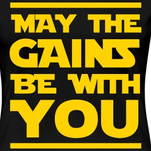 May the gains be with you T-Shirts - Women's Premium T-Shirt