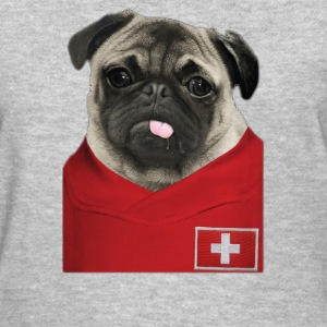 Switzerland Football Pug - Women's T-Shirt