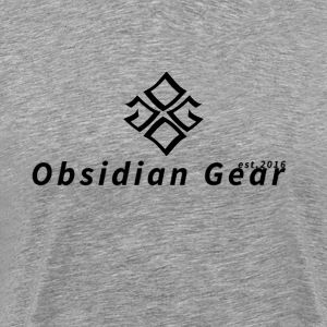 Obsidian Gear-Black logo - Men's Premium T-Shirt