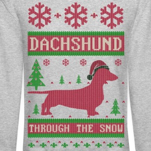 Dachshund Through Snow Long Sleeve Shirts - Crewneck Sweatshirt