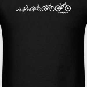 Lifecycle Evolution of the Bike Cycling - Men's T-Shirt