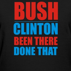 Bush Clinton Large - Women's T-Shirt