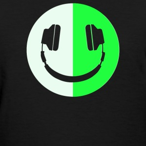 Glow In The Dark Headphone Smiley - Women's T-Shirt