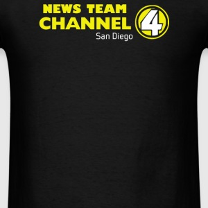 Anchorman Inspired Ron Burgundy Channel 4 News - Men's T-Shirt