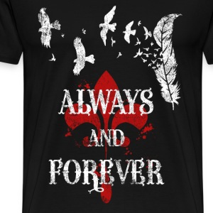 Always and forever - White birds T-shirt - Men's Premium T-Shirt