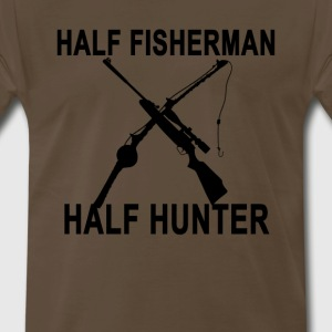 half_fisherman_half_hunter_tshirt__ - Men's Premium T-Shirt