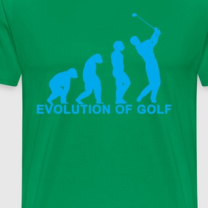 evolution_of_golf_tshirt_ - Men's Premium T-Shirt