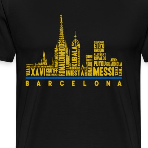 Barcelona football club fan - Ronaldinho Messi - Men's Premium T-Shirt
