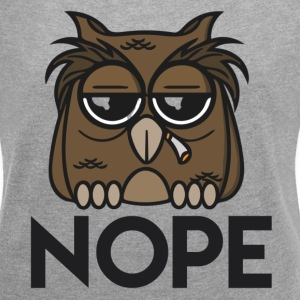 Funny Owl Nope T-Shirts - Women´s Rolled Sleeve Boxy T-Shirt
