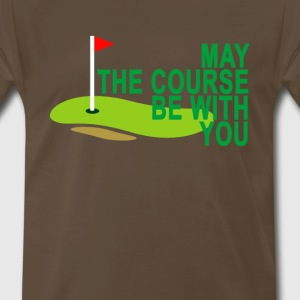 may_the_course_be_with_you_golf_ - Men's Premium T-Shirt