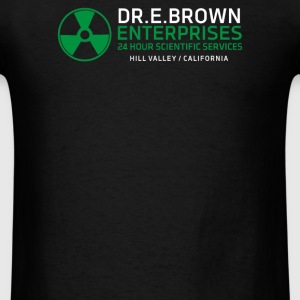 Dr Emmett Doc Brown Enterprises Back To The Future - Men's T-Shirt