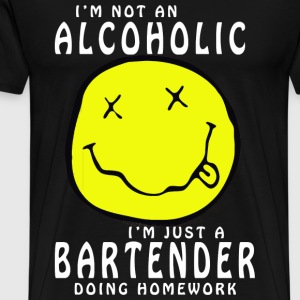 Bartender doing homework - I'm not an alcoholic - Men's Premium T-Shirt