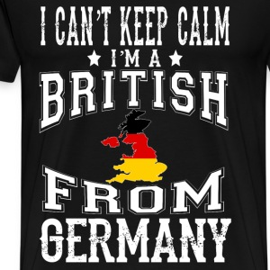 British from Germany - I can't keep calm - Men's Premium T-Shirt