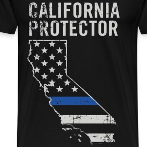 California protector - Piece of American flag - Men's Premium T-Shirt